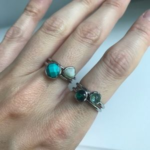 Chloe + Isabel Jewelry - NWT Minaret Stackable Rings 💙💎